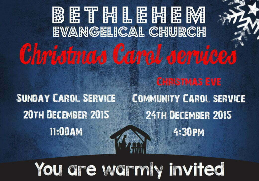 Christmas Services 2015